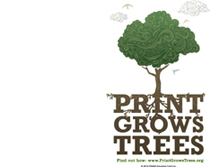 Print Grows Trees logo